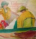 deux jeunes filles sur la plage 1920