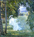 madame vian seated in the park