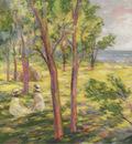Two Girls in a Landscape