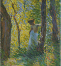 young girl in a clearing