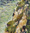 port en bessin a cliff