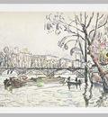 Vue de la Seine en Crue au Pont des Arts