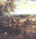 an autumn landscape with a view of het steen