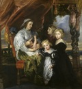 deborah kip wife of sir balthasar gerbier and her children  1629