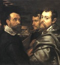 Self Portrait in a Circle of Friends from Mantua
