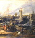 tournament in front of castle steen   1635