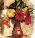 Bouquet of Flowers in an Earthenware Pitcher
