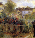 claude monet painting in his garden at argenteuil