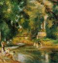 essoyes landscape washerwoman and bathers