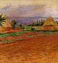 field and haystacks