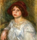 girl in a red hat
