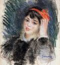 head of a young woman 1878