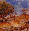 landscape woman under a tree 1882