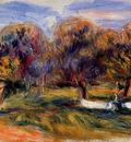 landscape with orchard