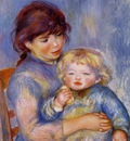 motherhood also known as child with a biscuit