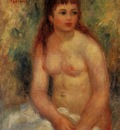 seated young woman nude