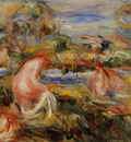 two bathers in a landscape