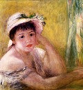woman with a straw hat