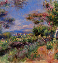 young woman in a landscape cagnes