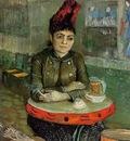agostina sagatori sitting in the cafe du tambourin