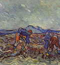 peasants lifting potatoes