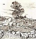 rocky ground at montmajour 1888