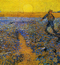 sower with setting sun after millet