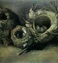 still life with three birds nests