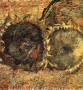 still life with two sunflowers