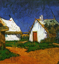 three white cottages in saintes maries