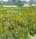 wheat field at auvers with white house
