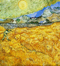 wheat field behind saint paul hospital with a reaper1889