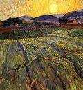 Wheat Field with Rising Sun