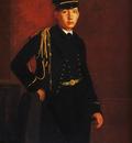 Achille de Gas en aspirant de marine Huile sur Toile 644x462 cm Washington national Gallery of Art