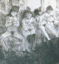 1877 Degas Edgar Attente seconde version Make an attempt second version