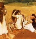 Femmes se peignant Huile sur papier maroufle sur toile 314x451 cm Washington The Philips Collection