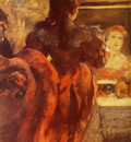 Danseuse dans sa loge Pastel 87x37 cm PAsadena The Norton Art Foundation