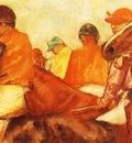 Jockeys Huile sur Toile 263x398 cm Yale University art Gallery