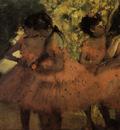 Les danseuses roses Avant le ballet Huile sur Toile 38x44 cm Copenhague Carlsberg Glyptotek