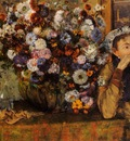 A Woman Seated beside a Vase of Flowers also known as sardela 1865 Metropolitan