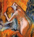 After the Bath Woman Drying Her Hair circa 1903 Private collection Drawing pastel