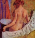 After the Bath circa 1890 1895 Fogg Drawing pastel