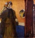 At the Milliner s 1882 Metropolitan Drawing pastel
