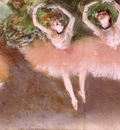 Ballet Scene circa 1879 Private collection pastel