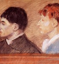 Criminal Physiognomies 1881 Private collection pastel