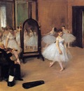 Dance Class 1871 Metropolitan Museum of Art USA oil on panel
