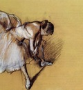 Dancer Adjusting Her Sandel circa 1890 Private collection pastel