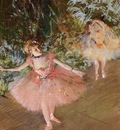 Dancer on Stage circa 1878 1880 Private collection pastel