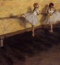 Dancers Practicing at the Barre 1876 1877 USA