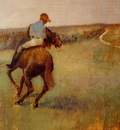Jockey in Blue on a Chestnut Horse circa 1889 Virginia Museum of Fine Arts USA